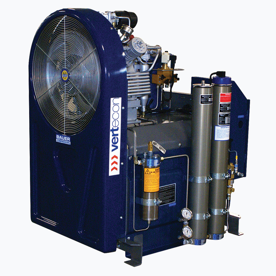 High Pressure Gas Compressor : Breathing air bauer compressor products tescorp